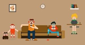 Apparatenmanie: onze wereld vandaag vector illustratie