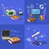 Apparater för illustrationer för bildande aktiviteter vektor illustrationer