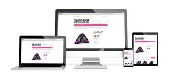 apparater isolerade svars- online- för modell shoppar design Arkivfoto