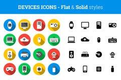 """Apparater och plan och fast stil för teknologisymbols†"""" vektor illustrationer"""