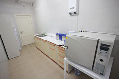 Apparatur för att sterilisera av medicinska instrument Fotografering för Bildbyråer