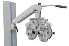 Apparatur för mätningen av vision som isoleras på vit bakgrund royaltyfria foton