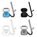 Apparatus for disinfection single icon in cartoon,black,outline,monochrome style for design.Pest Control Service vector. Symbol stock illustration Stock Photography