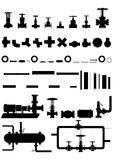 Apparatus and equipment for oil refining. Royalty Free Stock Photography