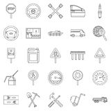 Apparatus icons set, outline style. Apparatus icons set. Outline set of 25 apparatus vector icons for web isolated on white background Stock Photos
