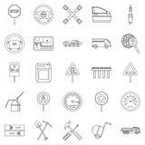 Apparatus icons set, outline style Stock Photos