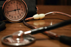 Apparatus for measuring blood pressure Stock Photography