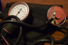 Apparatus for measuring blood pressure.  Royalty Free Stock Images