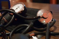 Apparatus for measuring blood pressure.  Royalty Free Stock Photo
