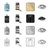 Apparatus, medical, bottle and other web icon in cartoon style.Hospital, polyclinic, diet icons in set collection. Royalty Free Stock Images