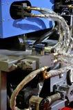 Apparatuur met pijp en adapter Stock Foto's