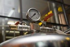 Apparatuur van een brouwerij. stock foto's