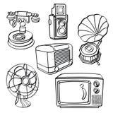 Apparecchi elettrici d'annata illustrazione di stock