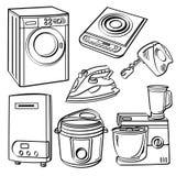 Apparecchi elettrici domestici illustrazione di stock