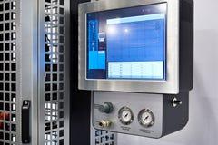 Apparecchiatura di controllo per i sistemi diagnostici degli ammortizzatori dell'automobile Fotografia Stock Libera da Diritti
