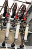 Apparecchiatura elettrica di comando ad alta tensione Immagine Stock