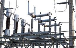 Apparecchiatura elettrica di comando di alta tensione di corrente elettrica Immagini Stock Libere da Diritti