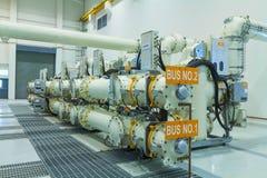 Apparecchiatura elettrica di comando isolata gas fotografia stock libera da diritti