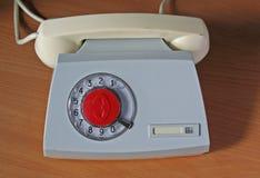 Apparecchio telefonico sovietico retro Immagini Stock