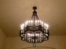 Appareil d'éclairage monté par plafond de lustre Images stock