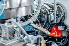 Appareil de chauffage en céramique de bride Système de chauffage pour des tuyaux pour les machines en plastique de moulage par in photo stock
