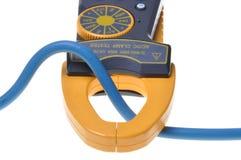 Appareil de contrôle électrique de mètre de bride Photographie stock