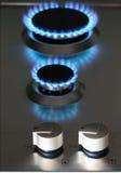 Appareil de cuisine de gaz naturel Photographie stock