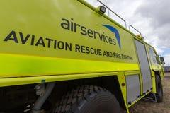Appareil de lutte contre l'incendie d'aérodrome d'Australie d'Airservices photos libres de droits
