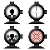 Appareil optique de visée positionnement Images libres de droits