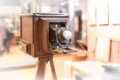 Appareil-photo Οld-façonné en bois photo libre de droits