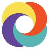 Appareil-photo abstrait de diaphragme de logo de calibre illustration stock