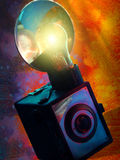Appareil-photo coloré de cru Image libre de droits