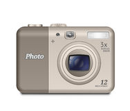 Appareil-photo compact de Digital Images stock
