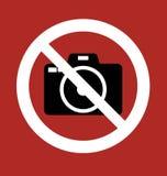 Appareil-photo d'interdiction de signe Photos stock