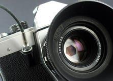 Appareil-photo dans l'action. Photo libre de droits