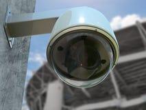 appareil-photo de caméra de sécurité ou de télévision en circuit fermé du rendu 3d Image libre de droits