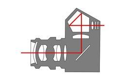 Appareil-photo de l'arrangement SLR illustration de vecteur