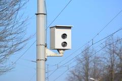 Appareil-photo de la fixation de la violation de la réglementation de la circulation Photos libres de droits