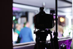 Appareil-photo de photo à l'événement Photo libre de droits