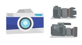 Appareil-photo de photo de Digital et caméra vidéo professionnelle Photo stock