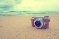 Appareil-photo de Rero sur la plage Photographie stock