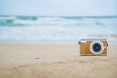Appareil-photo de Rero sur la plage Photos stock