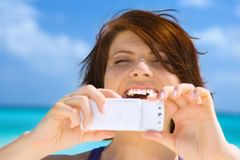 Appareil-photo de téléphone Images libres de droits