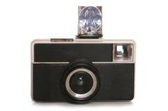 Appareil-photo de vintage avec l'éclair Photo stock
