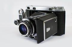 Appareil-photo de vintage avec le film Image libre de droits