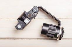 Appareil-photo du cru 35mm SLR Photo libre de droits