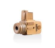 Appareil-photo en bois d'isolement Photographie stock libre de droits