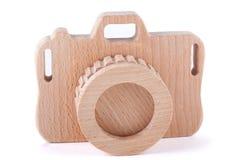 Appareil-photo en bois de jouet image libre de droits