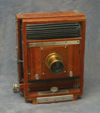 appareil-photo en bois de la vue 5X7 photos stock