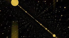 Appareil-photo entrant dans une boucle de l'espace infini de la grille 3d Fond élevé de mouvement de définition comportant un tun Photos libres de droits